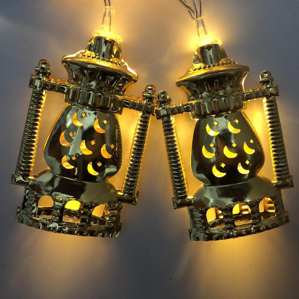 HobbyLane 10LEDs/20LEDs 1.6M/3M Muslim Ramadan Iron LED Kerosene Lamp Shape String Light Xmas Decortive Lamp Indoor Outdoor