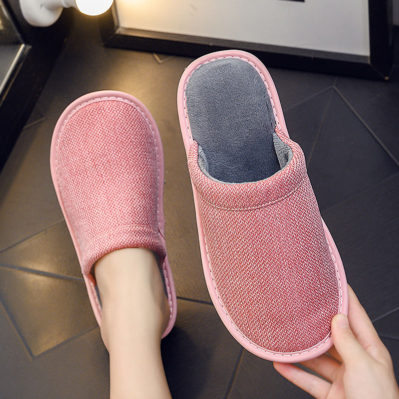 Indoor flap fashion slippers women fur slides 2020 trendy simple red shoes ladies home slippers