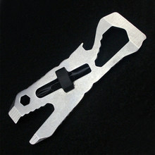 Klucz taktyczny wielofunkcyjna narzędzie EDC brelok zawieszka otwieracz do piwa klucz kieszonkowy zestaw survivalowy łom ze stali nierdzewnej