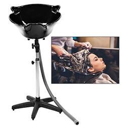 Портативная глубокая раковина для шампуня для салона, миска для обработки волос с сливным шлангом, регулируемая по высоте