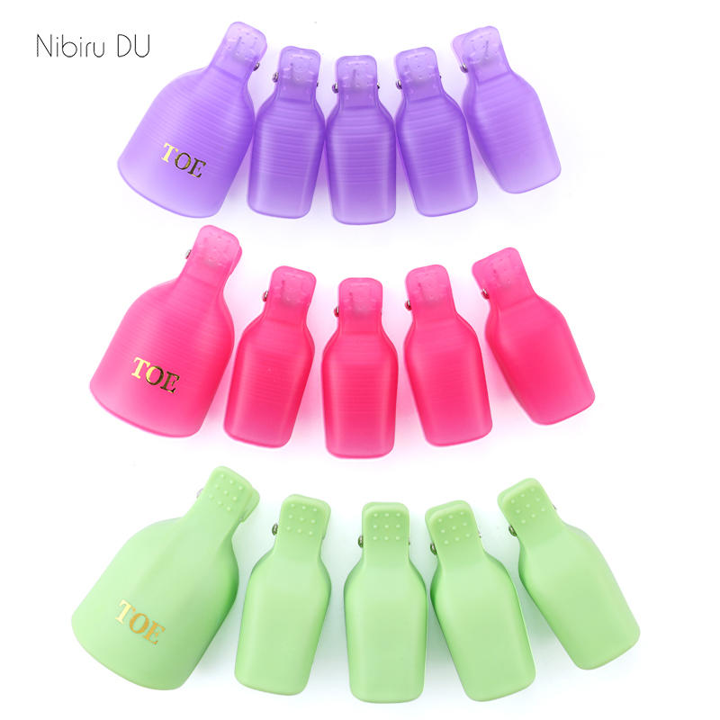 Plastic  Nail Art Soak Off Cap Clips On Feet UV Gel Polish Remover Wrap Tool Fluid For Removal Of Varnish Manicure Tools