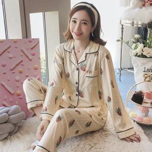 Image 5 - Womens Sleepwear Sexy Pajamas Sets Long Sleeve Top + Pants Autumn Winter Cute 2 Pieces Pyjama Pj Sets Ladies Cute Homewear