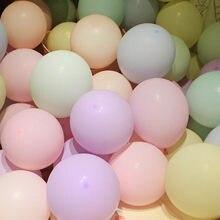 10/20/50/100 pçs rosa macaron látex balões balony fosco pastel balão festa de aniversário decoração do casamento chuveiro do bebê globos de ar