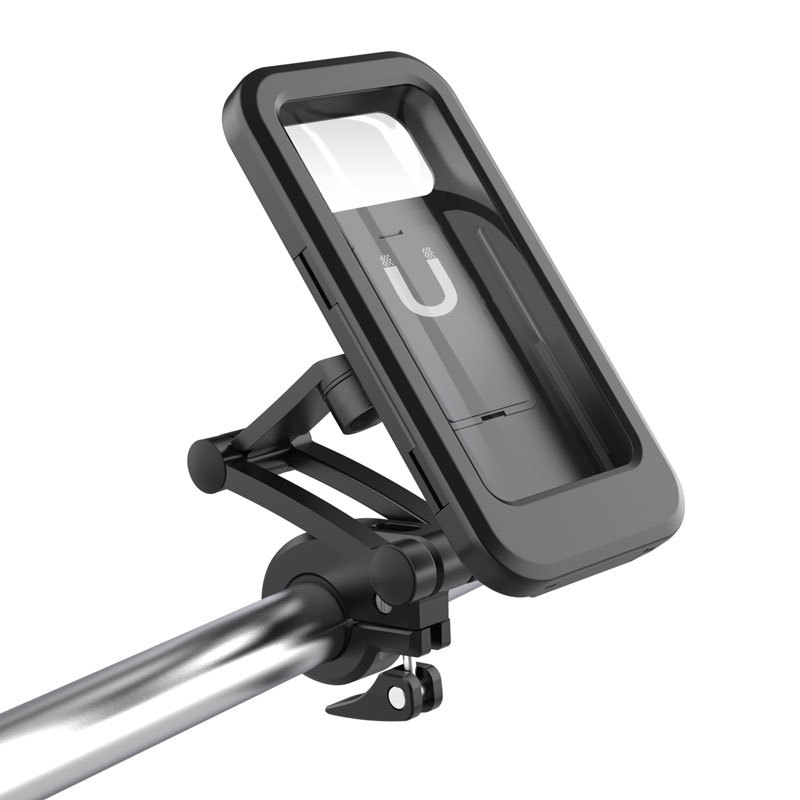 Waterproof Aluminum Alloy Bicycle Phone Holder Mountain Road Bike Handlebar Clip Stand Mount MTB Smartphone Support