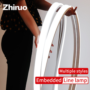 ZHINUO Flexible LED Neon Rope Tube LED Light Strip Silica Gel Soft Lamp Tube 1m - 5m IP67 Waterproof Silicone Light Band