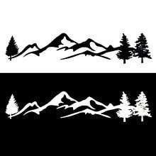 Árvore dos desenhos animados cena montanha grande noroeste carro adesivo acessórios decalque janela do carro vinil decorativo pvc 100cm x 20cm