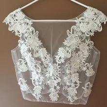 Bridal-Wraps Bolero Shrug Bride Jacket Sleeve Wedding for Party Custom-Made Appliques-Cap
