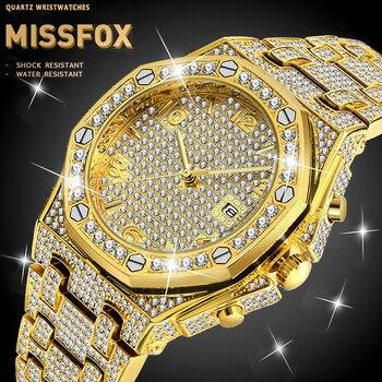 цена на MISSFOX Watches Men Brand Men Sport Watches Men's Quartz Clock Man Casual Military Diamonds Male Wrist Watch Relogio Masculino