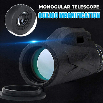 Professional Telescope  80x100 HD Night Vision Monocular Zoom Optical Spyglass Monocle for Sniper Hunting Rifle Spotting Scope 4
