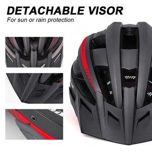 Image 5 - Victgoal אופניים קסדת LED Moutain כביש USB נטענת אור רכיבה על אופניים לגבר מגן שמש משקפי גברים MTB אופני כיסויי ראש