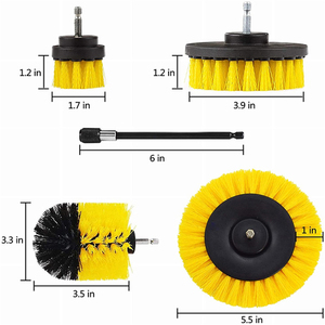 Image 5 - 5Pcs 3Pcs Power Scrubber Brush Electric Drill Brush Power Scrubber Bathroom Surface Tub Shower Tile Cleaning Tools