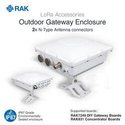 Carcasa para puerta de enlace exterior, soporte para RAK7249 DIY, tablero concentrador RAK831, accesorios LoRa, aluminio fundido a presión IP67 Q007