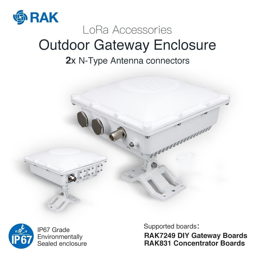 Outdoor Gateway Enclosure Support RAK7249 DIY Gateway RAK831 Concentrator Board LoRa Accessories IP67 Die-Cast Aluminum Q007