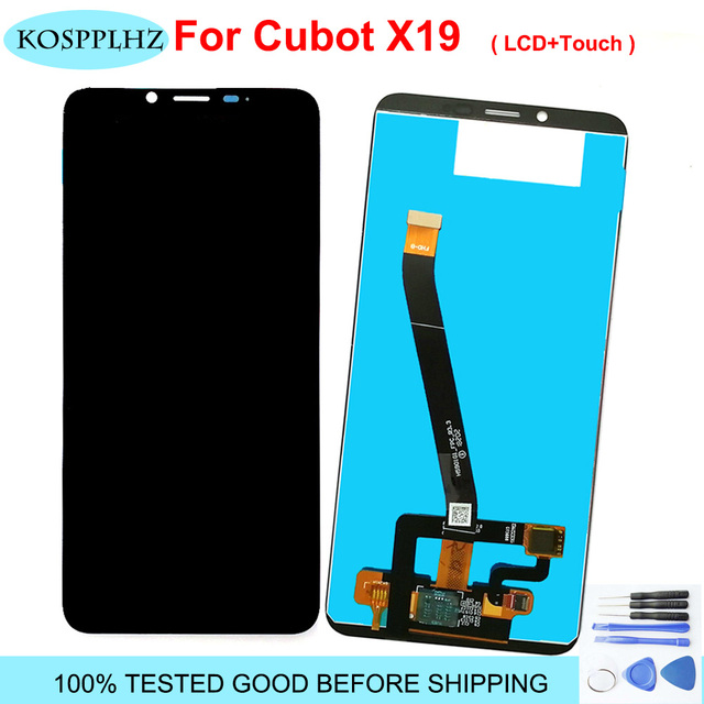 """5.93"""" 2160*1080 For cubot x19 LCD Display And Touch Screen Assembly Repair Parts For cubot x 19 phone + Tools"""