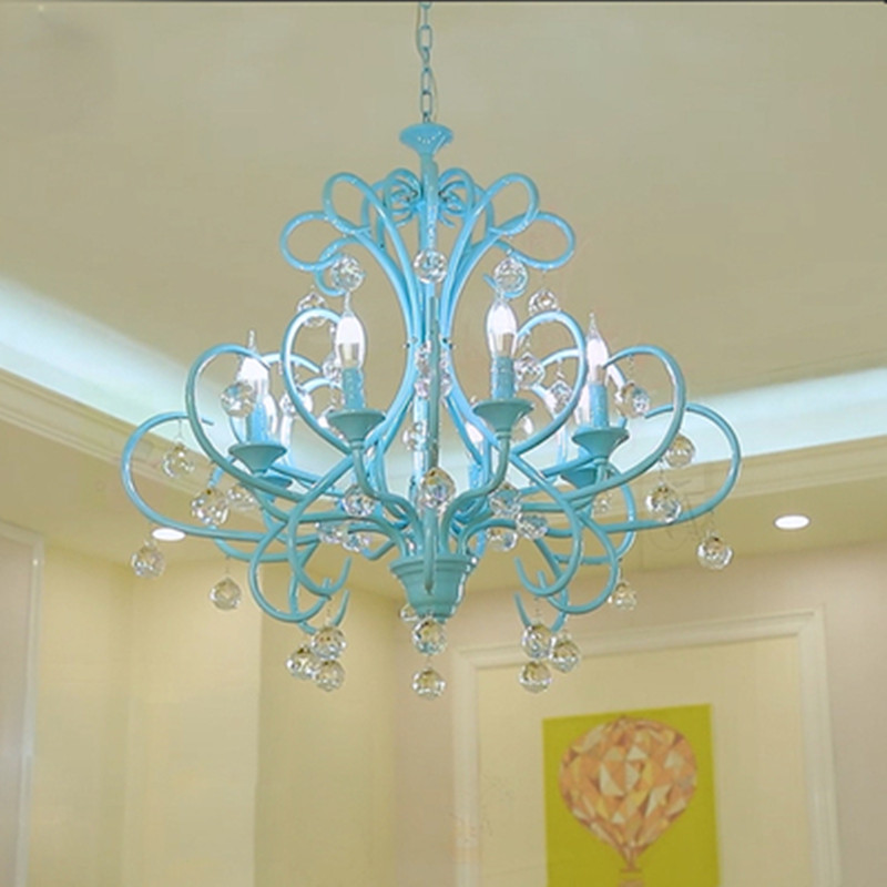 Salon Shopwindow Mission Style Blue Candle Chandelier Living Room Bedroom Dining Room Luminaire Arts Crafts Lights Lighting Pendant Lights Aliexpress