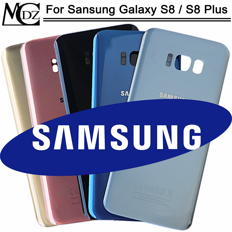 New S8 Battery Cover For Samsung Galaxy S8 G950 / S8 Plus S8+ G955 Back Cover Rear Back Glass Door Panel Housing Case