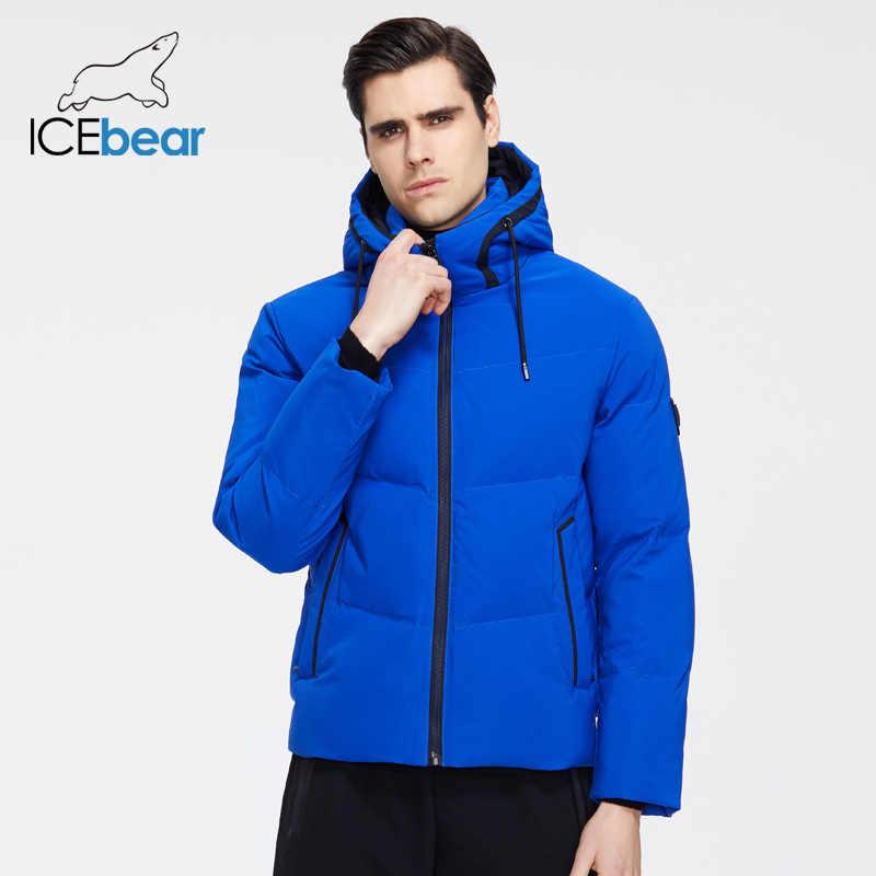 ICEbear 2019 ใหม่ฤดูหนาวหนาเสื้อผู้ชายผู้ชายสบายๆสไตล์เสื้อแบรนด์เสื้อผ้า MWD19617I