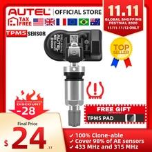 Autel mx sensor 433 315 tpms mx sensor de varredura ferramentas de reparo de pneus acessório automotivo monitor de pressão de pneus maxitpms almofada programador