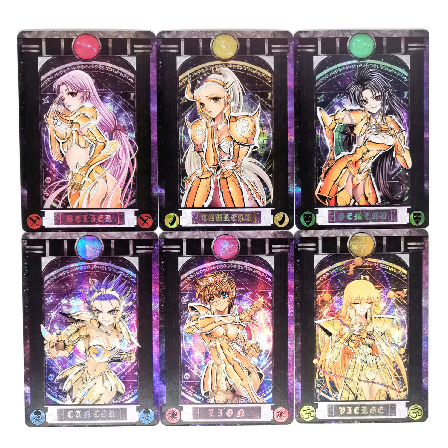 Saint Seiya Girl Edition Twelve Gold Saints Toys Hobbies Hobby Collectibles Game Collection Anime Cards