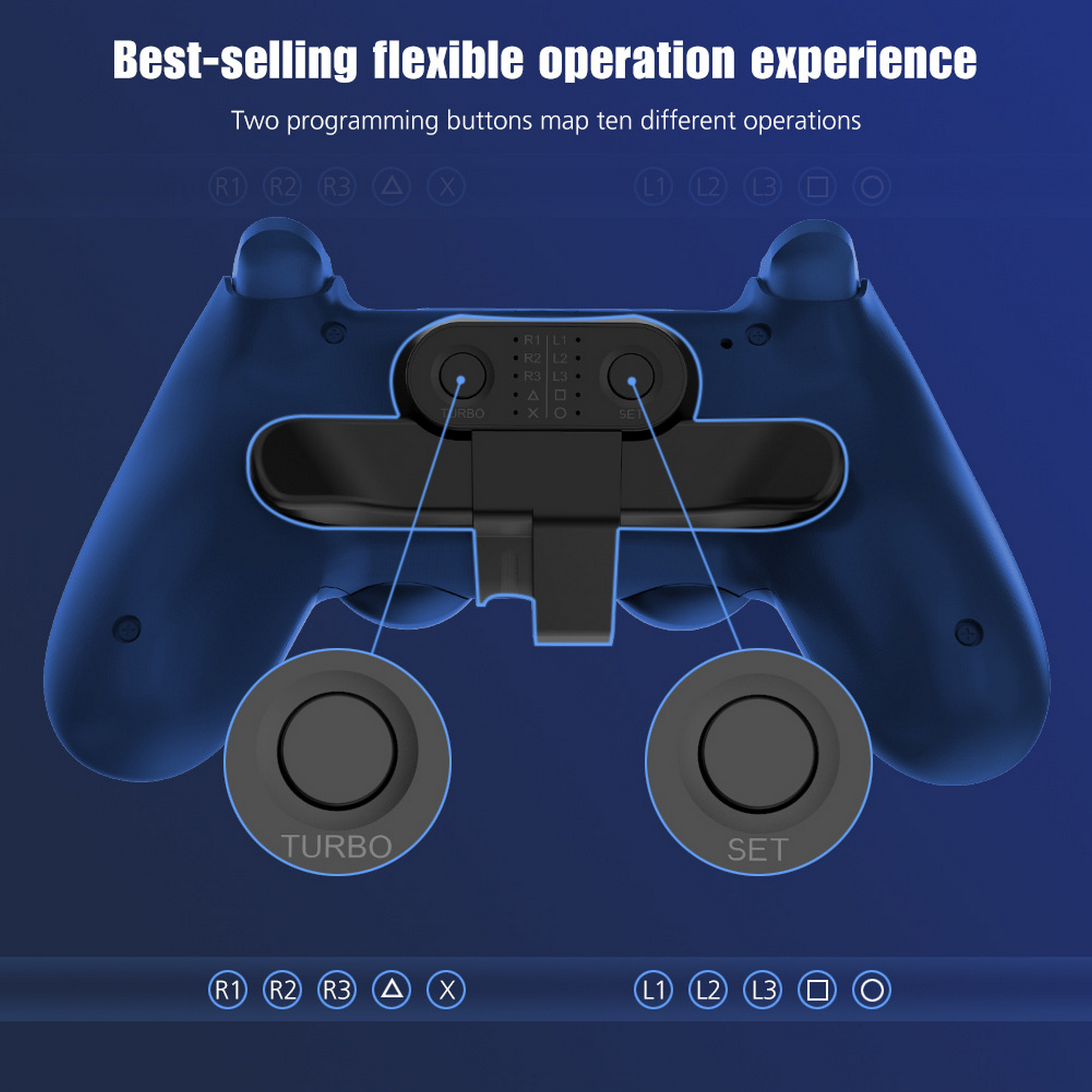 Replacement Paddles For Ps4 Controller Back Button Attachment For Dualshock4 Gamepad Rear Extension Keys Replacement Parts Accessories Aliexpress