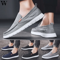Shoes Men 2019 Summer Slip On Breathable Sneakers Casual Canvas Shoes For Men Sneakers White Shoes Outdoor zapatos de hombre729