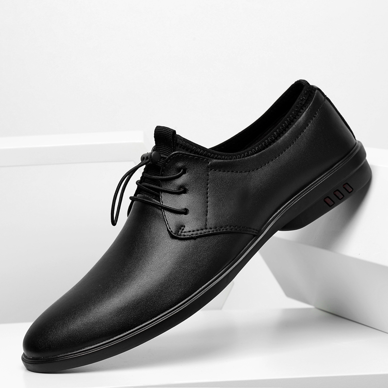 Italian Style Designer Genuine Leather Mens Oxford Dress Shoes Lace Up Male Party Wedding Office Black Brogue Formal Shoes O4