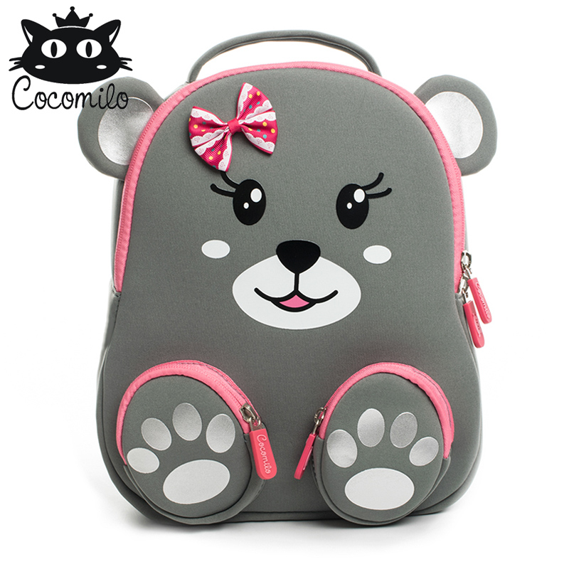 New 3D Kid School Backpack For Girls Boys Bear Pattern School Bags Children's Kindergarten Backpacks Mochila Infantil 2-6 Years
