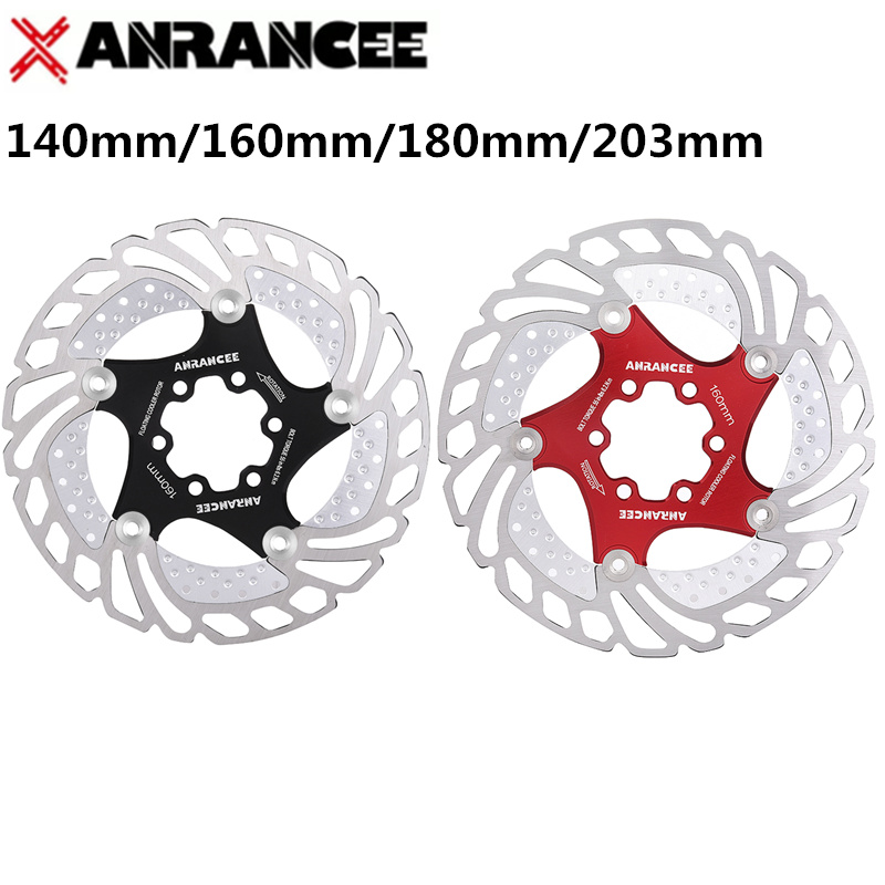 ANRANCEE Mountain Bike Cooling Disc Brake Floating Pads 140mm 160mm 180mm 203mm 6 Bolts Cool Down Bicycle Rotor VS RT99 RT86