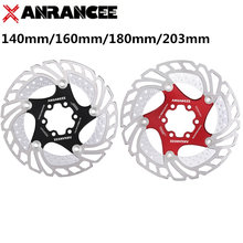 ANRANCEE Mountain Bike Disc Brake Floating Pads 140mm 160mm 180mm 203mm 6 Bolts Rotor Bicycle
