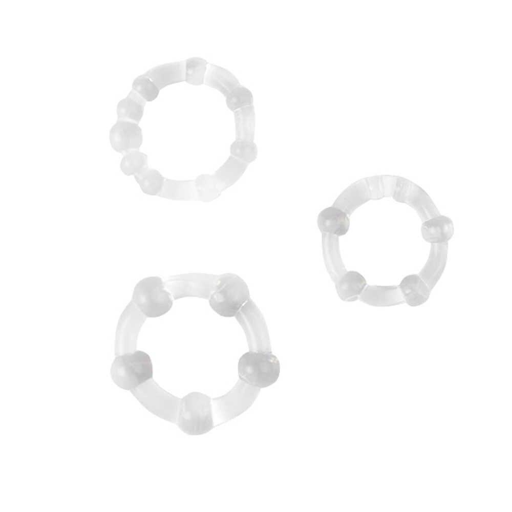 3PCS 실리콘 수탉 반지 지연 사정 남근 반지 성인 장난감 에로틱 한 섹스 토이 남자 Dropshipping