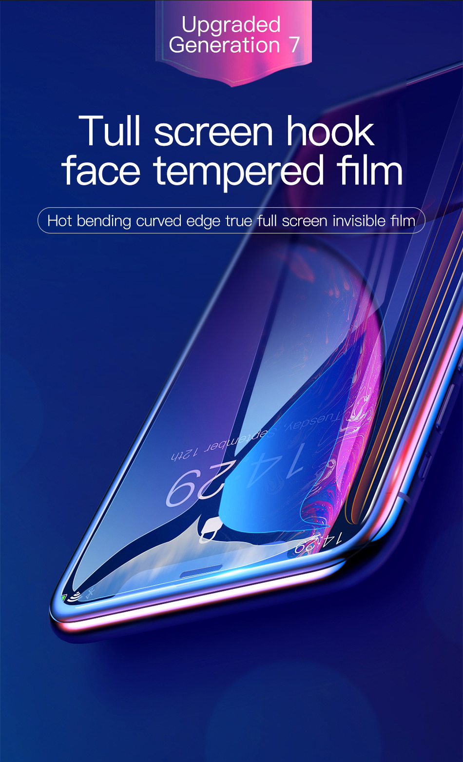 Baseus 0.3mm Full Coverage Tempered Glass For iPhone Xs Xs Max XR 2018 Screen Protector Thin Protective Glass For iPhone X Xs XR H3645138ad50b49789c0b82e9cafa7612t