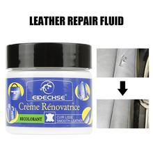 Kit de reparación de cuero crema de vinilo asiento de coche Auto sofá abrigos agujeros grietas rasguños cuero líquido reparación herramienta restauración