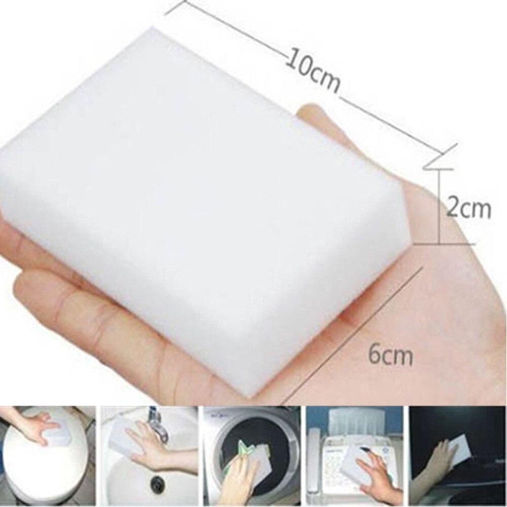 100 pçs/lote Melamina Esponja Mágica Esponja Eraser Melamina Esponja de Limpeza Da Cozinha Esponja De Limpeza para Escritório casa de Banho 2021