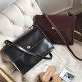 Bolsa de ombro casual design simples senhoras cruz corpo saco vintage bolsa de couro cruz corpo ombro saco do mensageiro