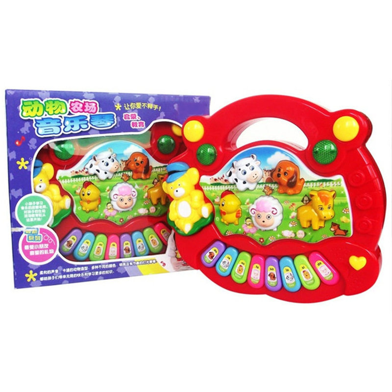 Children Light Electronic Organ Toy Animal Farm Music Piano Infant Baby ENLIGHTEN Early Childhood Educational Wholesale