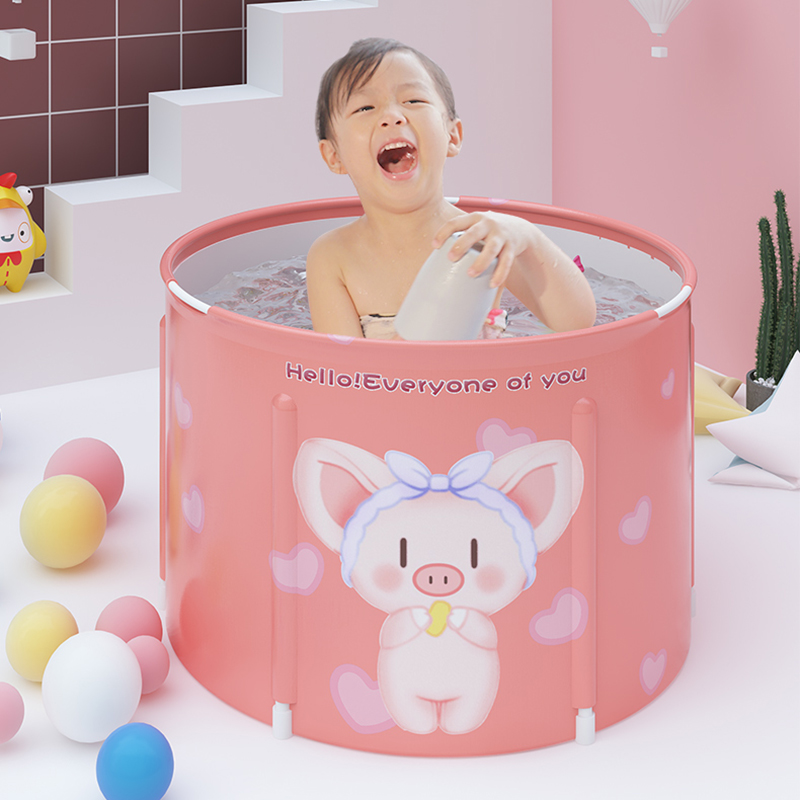 65*50 Bath Baby Tub Baby Bathtub Foldable for Toddler Kids Infant Basin Safe Non-Slip Portable Bathtub Collapsible Shower Basin