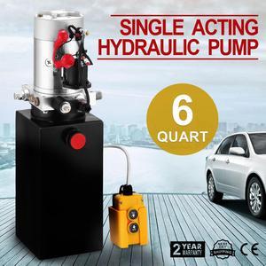 Image 1 - 6 Quart Single Acting Hydraulic ปั๊ม Dump Trailer 12V Lift Reservoir