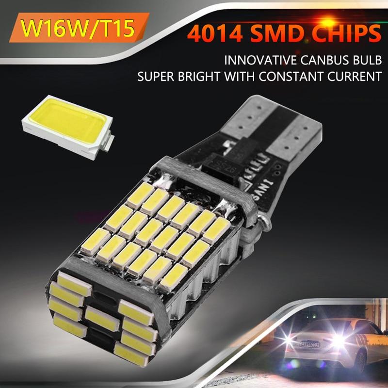 VODOOL T15 W16W Car LED Light Bulb Canbus Error Free 12V 4014 45SMD Vehicle Brake Parking Revering Turn Signal Lamp Taillight