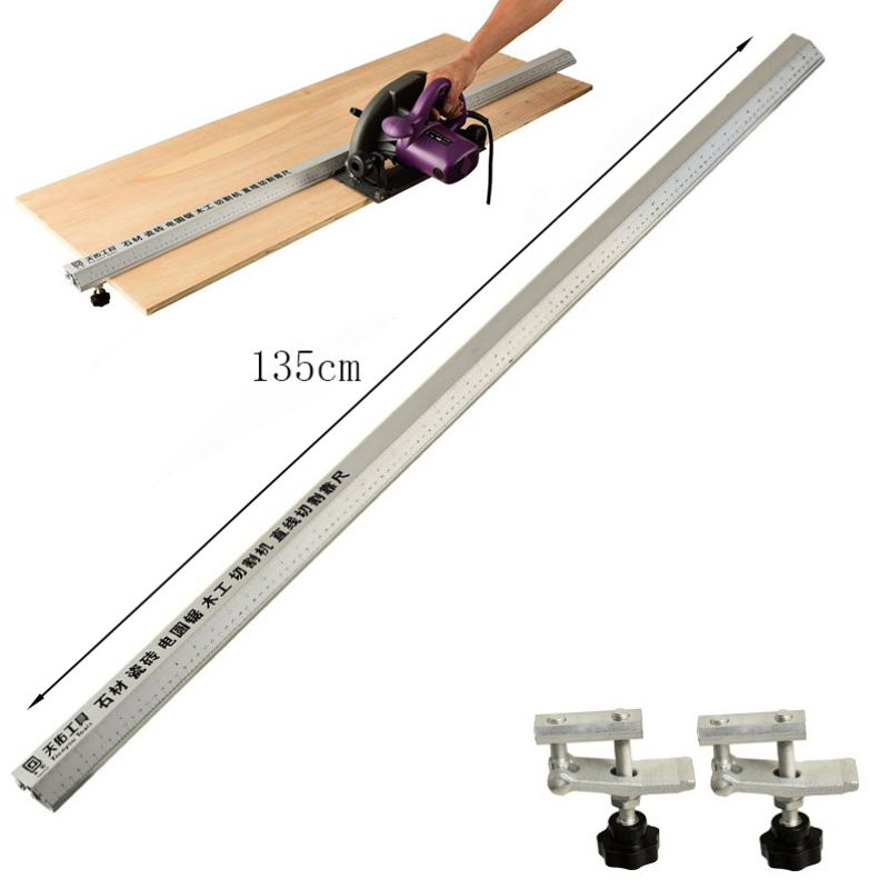 135cm 3 In 1 Chamfer Fixture Flip Saw Electric Circular Saw Cutting Machine Guide Foot Ruler Guide Woodworking Tools