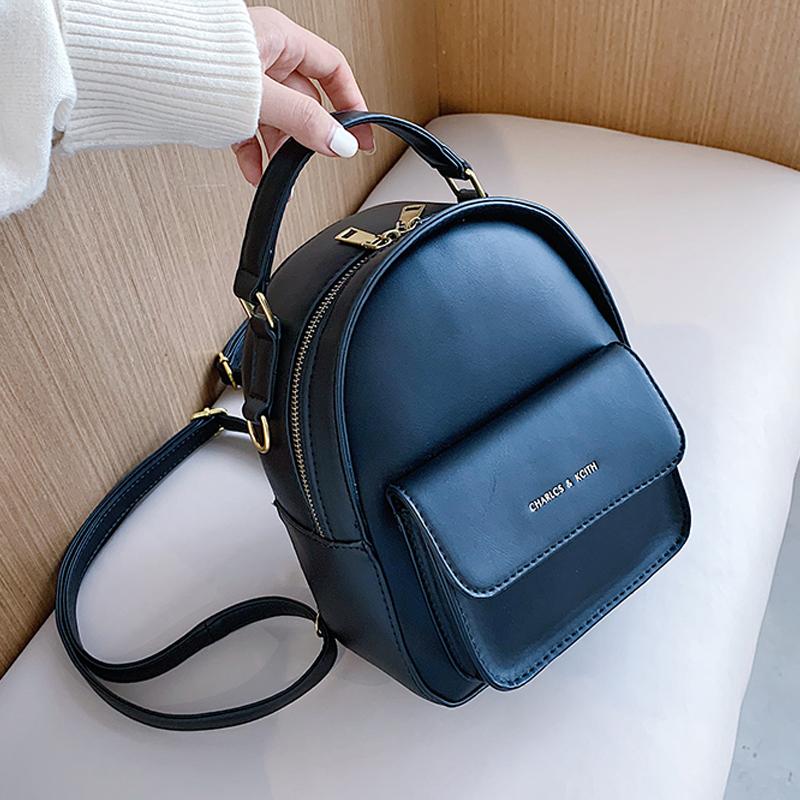 Women Backpack 2020 New PU leather Women's bag Teen Girls Backpacks Cute Animals School Female Small Bag