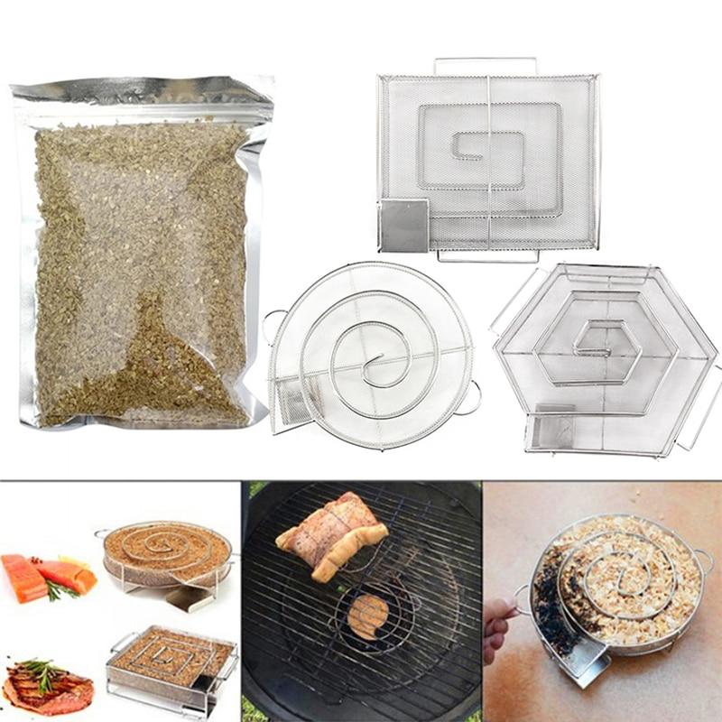 BBQ Wood Chips for Smoking Apple Cherry Walnut Sawdust 80g Chips for Smoking Gun