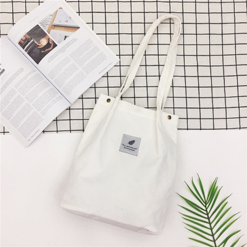 Litthing Women Solid  Corduroy Shoulder Bags Shopping Bag Tote Package Crossbody Bags Purses Casual Handbag For Women Bookbag