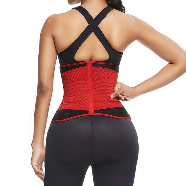 SHER Neoprene Sauna Waist Trainer Corset Sweat Belt for Women Weight Loss Compression Trimmer Workout Fitness 2