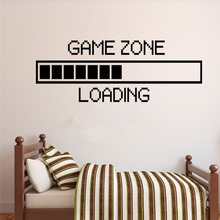цена на Game Zone Loading Game Sticker Living Room Bedroom Sofa Wall Decoration wall stickers for kids rooms