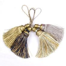 1Pc Crafts Silk Tassel Brush For Cabinet Curtain Home Decoration Handmade Tassels Hanging Pendant Diy Jewelry Accessories