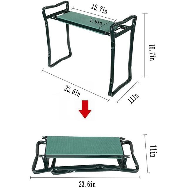 Garden Kneeler and Seat Folding Stainless Steel Garden Stool with Tool Bag EVA Kneeling Pad Gardening Gifts Supply 4
