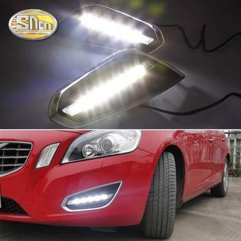 цена на For Volvo S60 V60 2011 2012 2013 Day light Daytime Running Lights Fog Lamp With Light-off Function Relay 12V