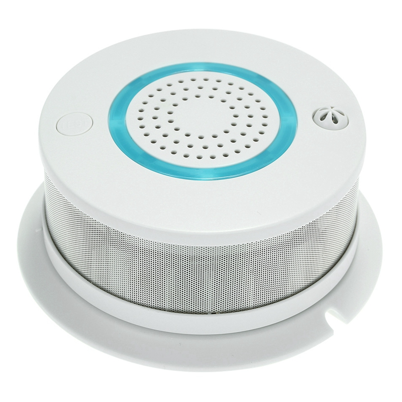 Smart WIFI Fire Smoke Temperature Sensor Wireless Alarm Detector APP Control For Home Security System