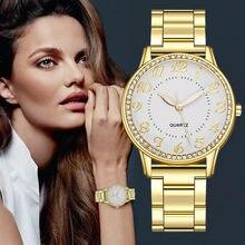 Haute Qualité Femmes Montres De Luxe Montre À Quartz En Acier Inoxydable Cadran Décontracté Dames Bracelet Montre Tempérament Montres Horloge