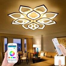 Modern led chandelier living room bedroom dining room LED ceiling lamp hotel villa chandelier lamp remote control APP control la
